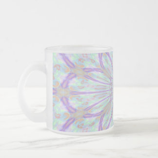 Web floral abstracto, taza