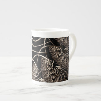 Web flower tea cup