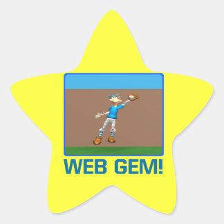 Web Gem Star Sticker