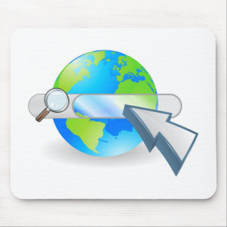 Web globe seach bar concept mouse mat
