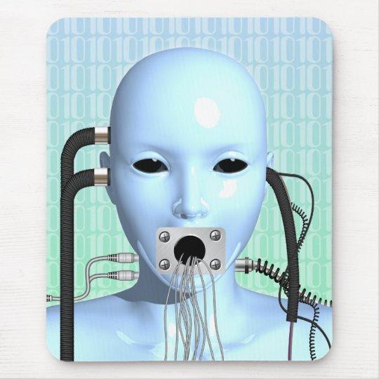 Web Head Modern Surreal Art Mouse Pad