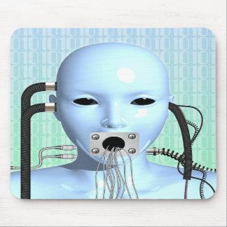 Web Head Modern Surreal Art Mousepad