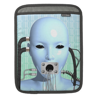 Web Head Surreal Art Rickshaw iPad Sleeve