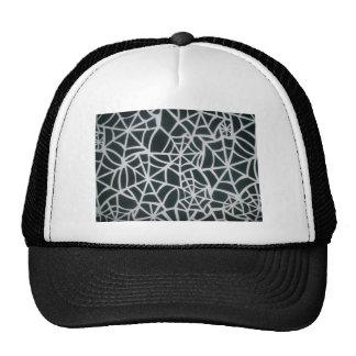 Web hermoso de la cebra de rayas blancos y negros gorras de camionero