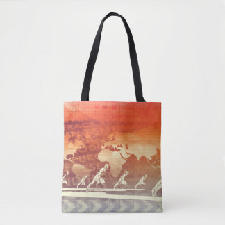Web Information Technology Art of the Future Tote Bag