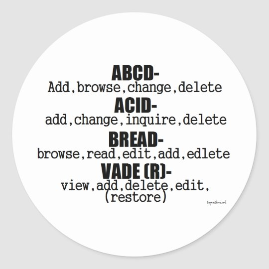 Web Lingo Classic Round Sticker