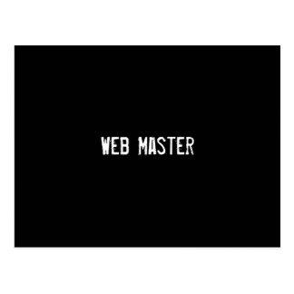 Web Master Postcard