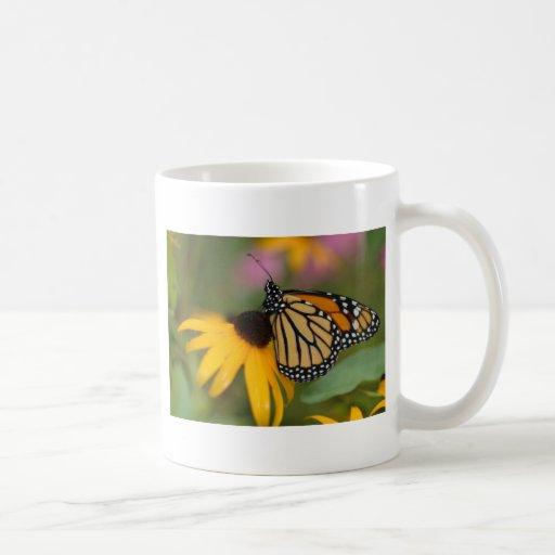 web-monarch watercolor mug