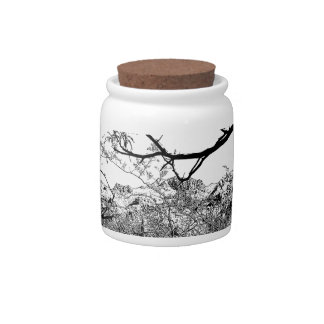 Web of Branches Candy Jar