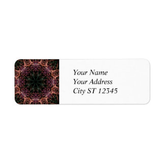 Web of Color Kaleidoscope Address Label