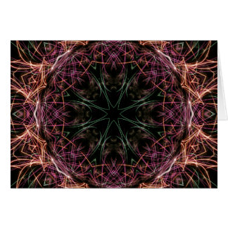 Web of Color Kaleidoscope Card