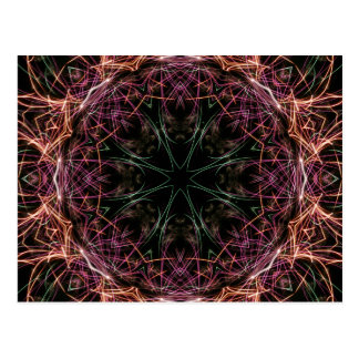 Web of Color Kaleidoscope Postcard