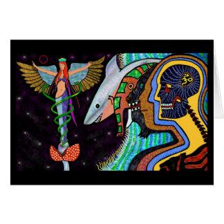 Web of Eternal Conscious Greeting Card