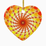 Web Of Fire Ceramic Ornament