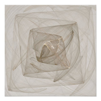 """""""Web of Imagination"""" Fractal Fantasy Square Poster"""