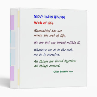 Web of Life : Native American Indian Wisdom Vinyl Binders