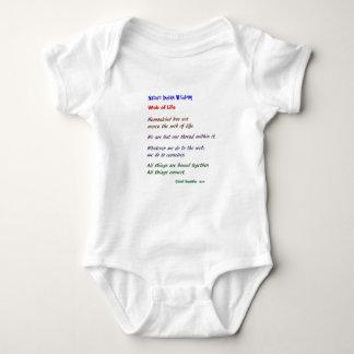 Web of Life : Native American Wisdom Baby Bodysuit