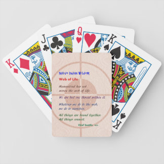 Web of Life : Native American Wisdom Poker Cards
