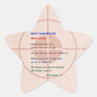Web of Life : Native American Wisdom Star Sticker