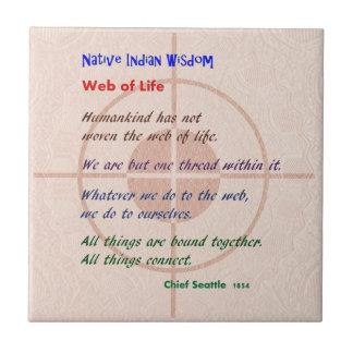 Web of Life : Native American Wisdom Tile