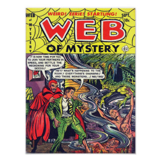 WEB OF MYSTERY Cool Vintage Comic Book Cover Art Poster