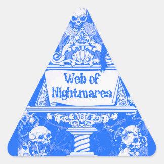 Web of Nightmares Triangle Sticker