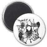 Web Of Skulls-blk Fridge Magnets