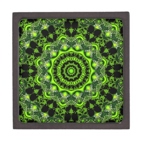 Web of the Spider Mandala, Abstract Circle Dances Keepsake Box