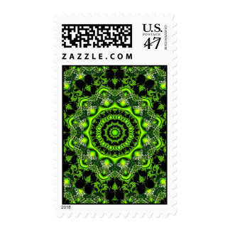 Web of the Spider Mandala, Abstract Circle Dances Postage