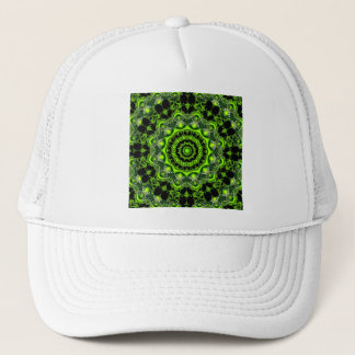 Web of the Spider Mandala, Abstract Circle Dances Trucker Hat