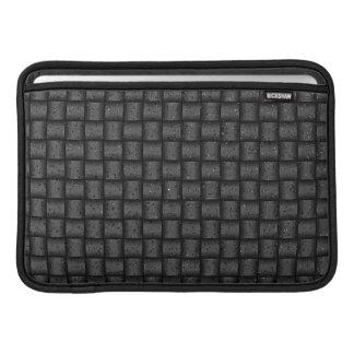 Web optics - anthracite coal MacBook sleeve