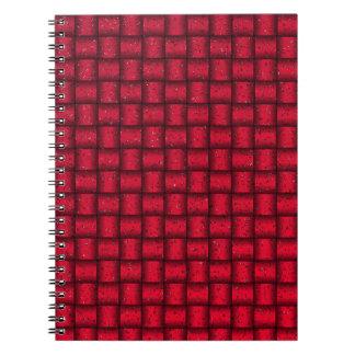 Web optics - red spiral notebook