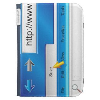 Web Page Browser Kindle Case