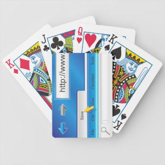 Web Page Browser Playing Cards