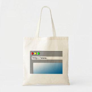 Web page en blanco bolsas