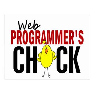Web Programmer's Chick Postcard