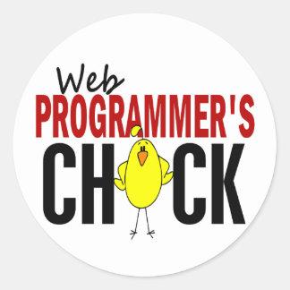 Web Programmer's Chick Sticker