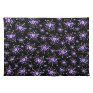 Web púrpuras del cráneo manteles