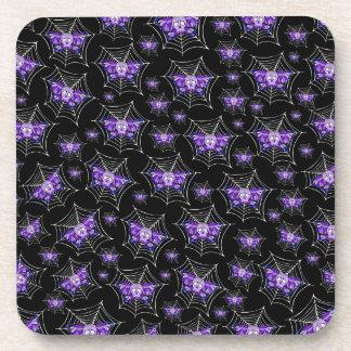 Web púrpuras del cráneo posavasos
