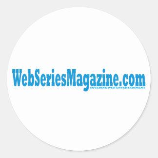 Web Series Magazine Signature Design Classic Round Sticker