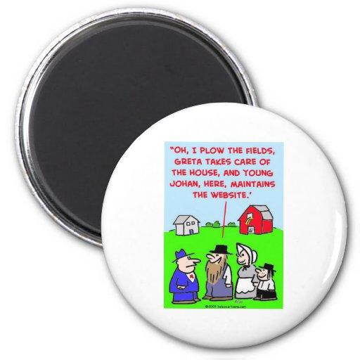 Web site de Amish Imán Redondo 5 Cm