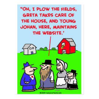 Web site de Amish Postales