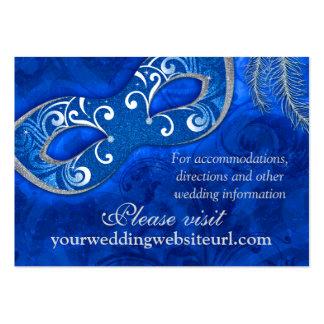 Web site del boda de la bola de mascarada de la pl tarjetas de visita grandes