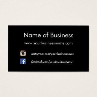 Web site sociales negros llanos modernos de los tarjetas de visita