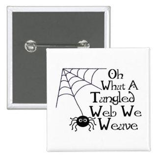 Web spider enredado pin cuadrado