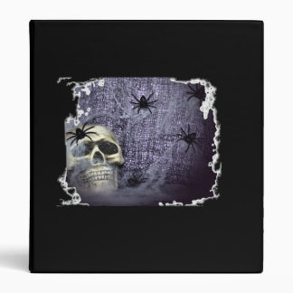 Web, Spiders and Skull Avery Binder