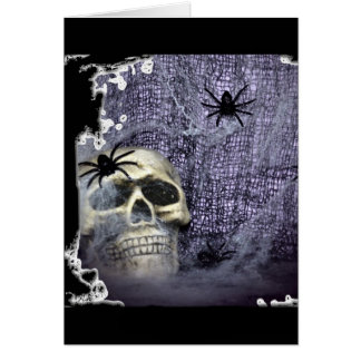 Web, Spiders and Skull Card