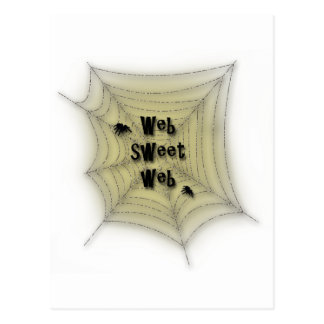 Web sweet web postcard