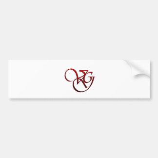 Web Valeria Gonzales Street Team Logo Car Bumper Sticker