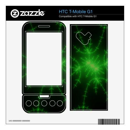 Web verde del fractal HTC T-Mobile g1 skin